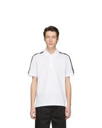 Camisa polo en blanco y negro de Givenchy