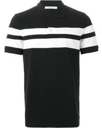 Camisa polo en negro y blanco