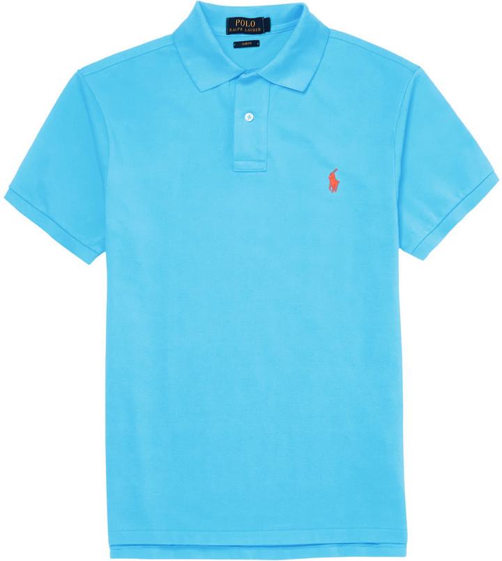 df23163dd91e4 ... Camisa polo en turquesa de Polo Ralph Lauren ...