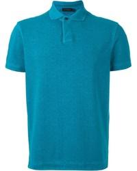 Camisa polo en verde azulado