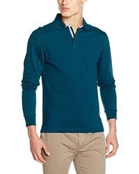 Camisa polo en verde azulado de Hackett London
