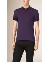 Camisa polo en violeta