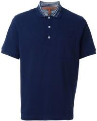 Camisa polo estampada azul marino de Missoni