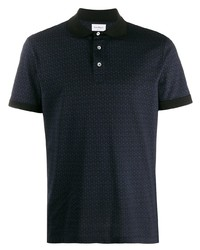 Camisa polo estampada azul marino de Salvatore Ferragamo