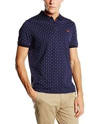 7515eece8b533 Comprar una camisa polo estampada azul marino  elegir camisas polo ...