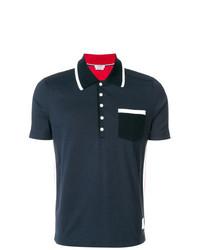 Camisa polo estampada azul marino de Thom Browne