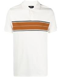 Camisa polo estampada blanca de A.P.C.
