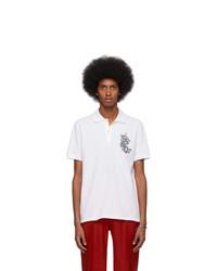 Camisa polo estampada blanca de Alexander McQueen