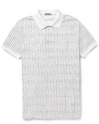 Camisa polo estampada en blanco y negro de Bottega Veneta