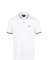 Camisa polo estampada en blanco y negro de Emporio Armani