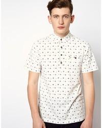 Camisa polo estampada en blanco y negro de Farah