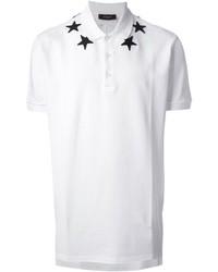 Camisa polo estampada en blanco y negro de Givenchy