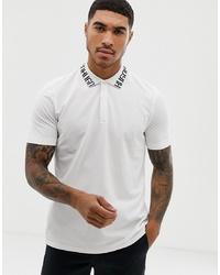 Camisa polo estampada en blanco y negro de Hugo