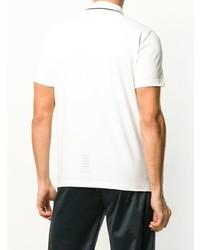 Camisa polo estampada en blanco y negro de Ea7 Emporio Armani