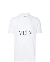 Camisa polo estampada en blanco y negro de Valentino