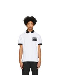 Camisa polo estampada en blanco y negro de VERSACE JEANS COUTURE