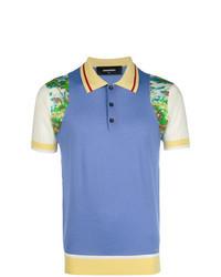 Camisa polo estampada en multicolor