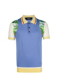 Camisa polo estampada en multicolor de DSQUARED2