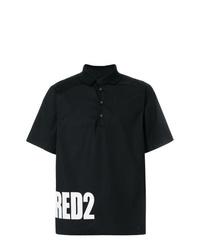 Camisa polo estampada en negro y blanco de DSQUARED2
