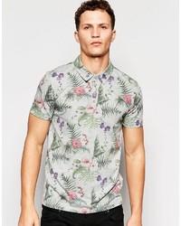 Camisa polo estampada gris de ONLY & SONS