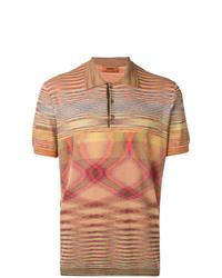 Camisa polo estampada naranja de Missoni