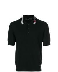 Camisa polo estampada negra de DSQUARED2