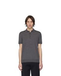 Camisa polo gris de Bottega Veneta