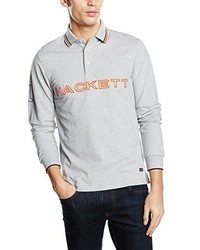 Camisa polo gris de Hackett London