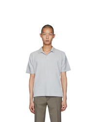 Camisa polo gris de Homme Plissé Issey Miyake