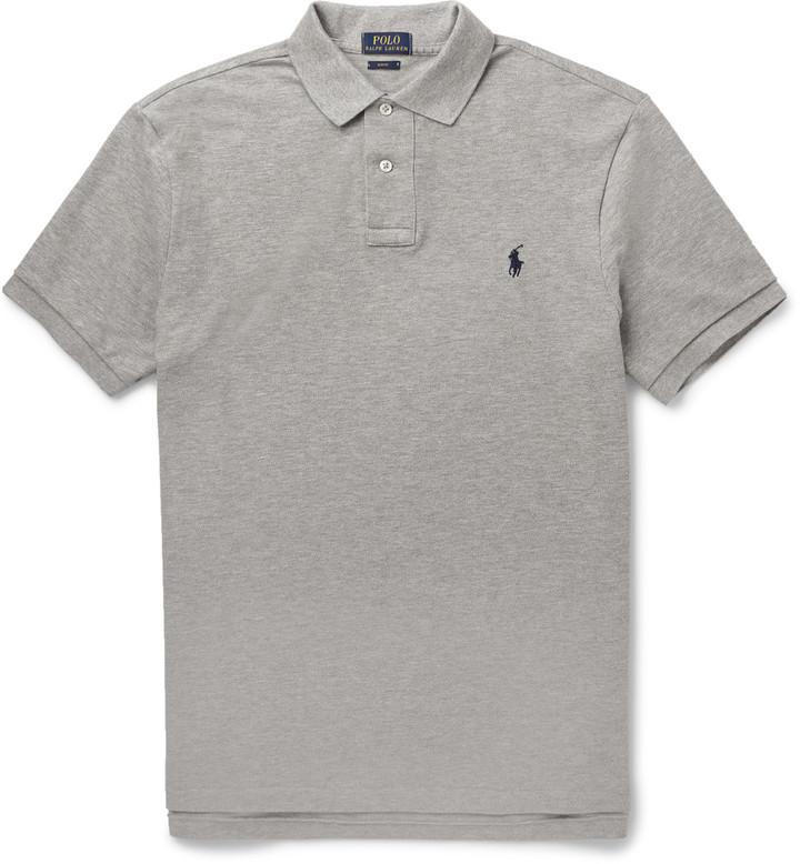 ba446e5580c4e ... Camisa polo gris de Polo Ralph Lauren ...