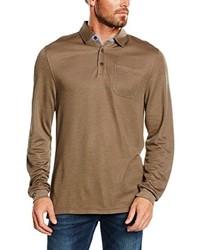 Camisa polo marrón claro de Casamoda