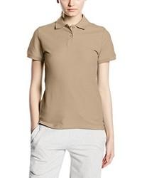 Camisa polo marrón claro de Fruit of the Loom