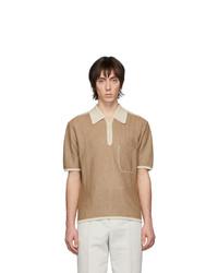 Camisa polo marrón claro de Lemaire