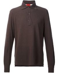 Camisa polo marrón de Isaia