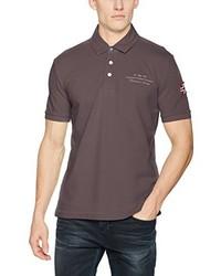 Camisa polo marrón de Napapijri
