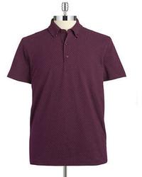 Camisa polo morado oscuro