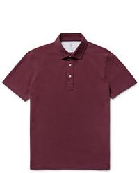 Camisa polo morado oscuro de Brunello Cucinelli