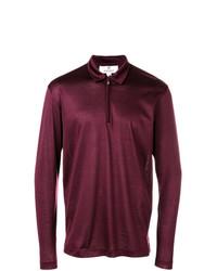 Camisa polo morado oscuro de Canali