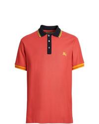 Camisa polo naranja de Burberry