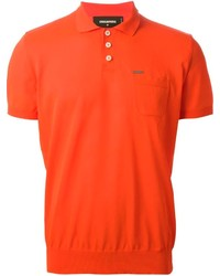 Camisa polo naranja de DSQUARED2