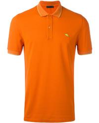 Camisa polo naranja de Etro