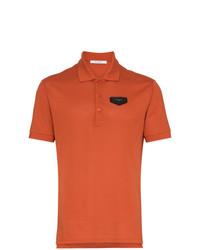 Camisa polo naranja de Givenchy