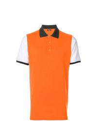 Camisa polo naranja de Kiton