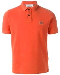 Camisa polo naranja de Stone Island