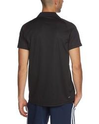 Camisa polo negra de adidas