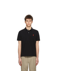 Camisa polo negra de AMI Alexandre Mattiussi