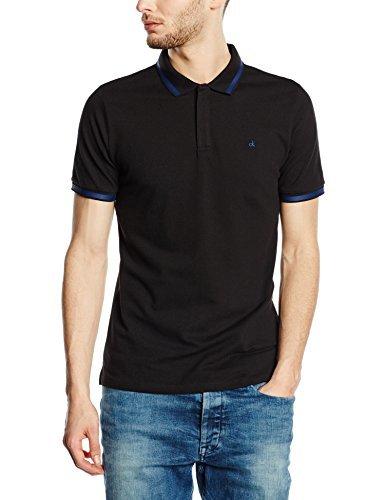 0f48bb6257b ... Camisa polo negra de Calvin Klein Jeans ...