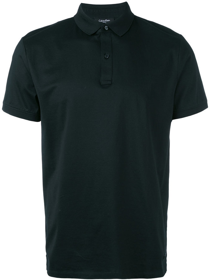5f31e08a675 ... Camisa polo negra de Calvin Klein