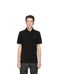 Camisa polo negra de Dolce and Gabbana