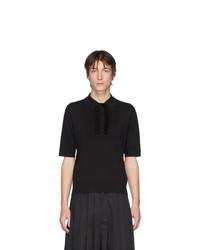 Camisa polo negra de Dries Van Noten